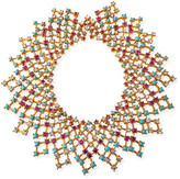 Jose & Maria Barrera Lattice Bib Necklace