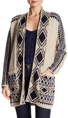 Lucky Brand Printed Knit Cardigan