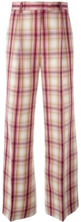 MSGM plaid straight trousers