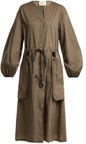 By. Bonnie Young - Balloon-sleeved Cotton Dress - Womens - Brown