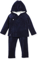 Ralph Lauren Velour Hooded Jacket & Pants, Navy, Size 9-24 Months