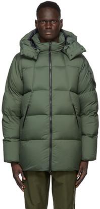 Goldwin Green Down Hooded Spur Coat