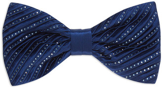 Stefano Ricci Crystal Pleated Silk Bow Tie