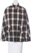 A.P.C. Wool-Blend Plaid Cape