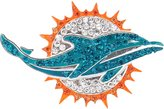 Seasons Miami Dolphins Crystal Logo Brooch Pin