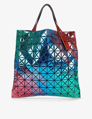 Bao Bao Issey Miyake Platinum iridescent plastic tote bag