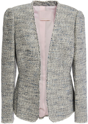 Rebecca Taylor Frayed Cotton-blend Boucle-tweed Jacket