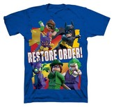 Batman Boys' The LEGO Movie T-Shirt- Blue