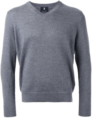 Kent & Curwen logo embroidery V-neck jumper