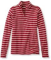 L.L. Bean L.L.Bean French Sailor's Pullover, Long-Sleeve Quarter-Zip