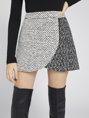 Alice + Olivia LENNON COLOR BLOCK MINI SKIRT