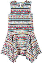Petit Lem Multicolor Stripe Knit Dress, Multi, Size 2-4T