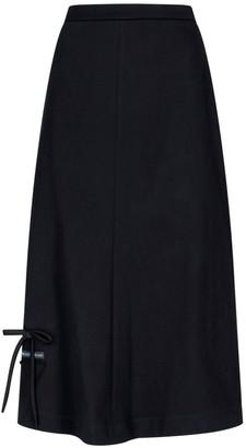Prada Bow Logo Midi Skirt
