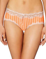 Heidi By Heidi Klum Stripe Mesh with Lace Hipster