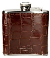 Aspinal Of London Classic 5oz Mock Crocodile Hip Flask