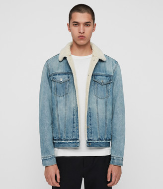 AllSaints Ilkley Sherpa-Lined Denim Jacket