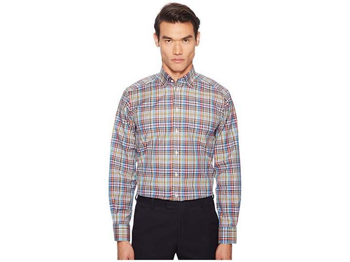 Eton Contemporary Fit Madras Plaid Shirt