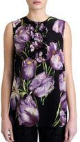 Dolce & Gabbana Tulip Print Silk Shell