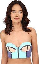 Maaji Women's Pale Turquoise Timbers Bikini Top with Soft Cups