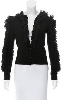 Viktor & Rolf Ruffled Long Sleeve Cardigan