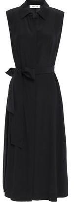 Diane von Furstenberg Demi Silk Crepe De Chine Midi Shirt Dress