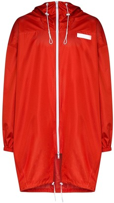 Givenchy Oversized Perforated Hooded Parka