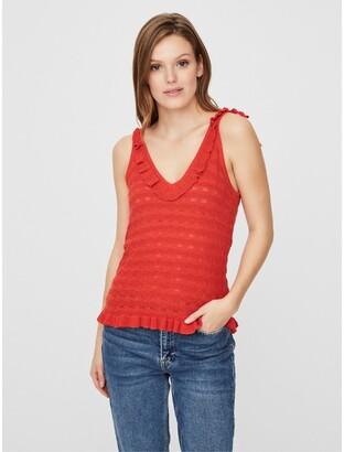 Vero Moda Ruffled Knitted Tank Top
