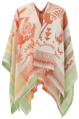 Etro Floral-jacquard Wool-blend Shawl - Womens - Multi