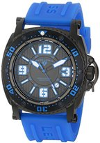 "Swiss Legend Men's 11503-BB-01-BLAS ""Typhoon"" Stainless Steel Watch with Blue Silicone Band"