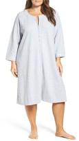 Carole Hochman Plus Size Women's Designs Zip Front Waffle Knit Robe