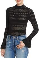 Olivaceous Pointelle Knit Bodysuit