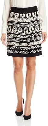 Desigual Women's Clara Knitted Knee Skirt Black XXL