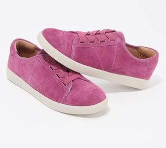 Vionic Women's Suede Water Resistant Cupsole Sneakers - Jean