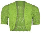 Janisramone Ladies Bolero Shrug Knitted crochet Cardigan Top XXL