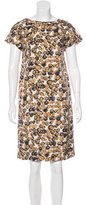Piazza Sempione Silk Abstract Print Dress