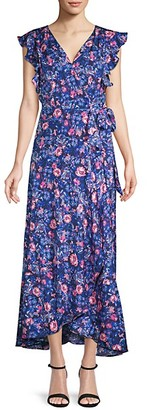 Ava & Aiden Floral Wrap-Front Dress