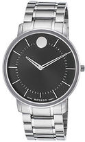 Movado 606687 Men's Thin Classic Stainless Steel Black Dial SS