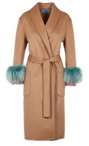 Prada Women's Brown Wool Coat.
