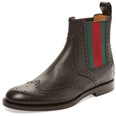 Gucci Wingtip Leather Chelsea Boot