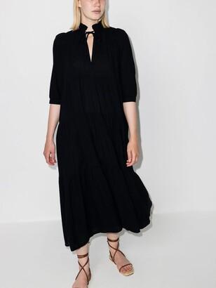 HONORINE Black Giselle Cotton Maxi Dress