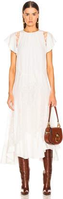 Chloé Lace Dress in Iconic Milk | FWRD
