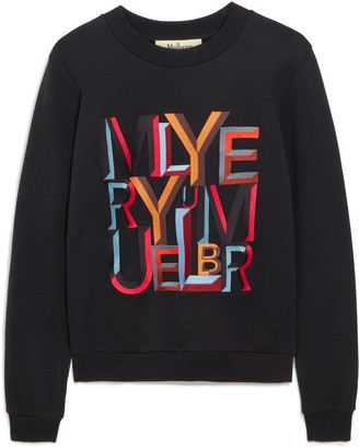 Mulberry Prudence Sweatshirt Multicolour and Black Alphabet Cotton Jersey