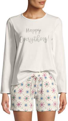 Bedhead Pajamas Happy Everything Long-Sleeve Short Holiday Pajama Set