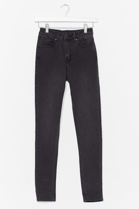Nasty Gal Womens Set the Bar High-Waisted Skinny Jeans - Black - 10, Black