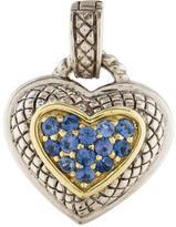Judith Ripka Sapphire Heart Pendant