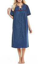 Go Softly Embroidered Denim Patio Dress