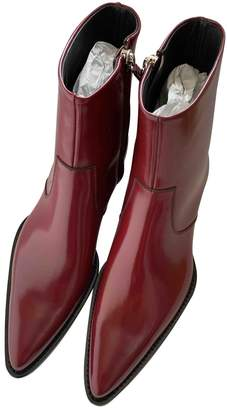 Calvin Klein Burgundy Leather Boots