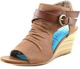 Blowfish Budha Women Open Toe Synthetic Brown Wedge Sandal.