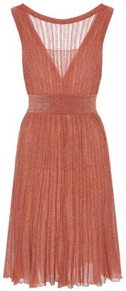 Missoni Metallic-knit dress
