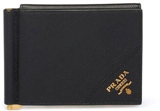 Prada Detachable Money Clip Bi-Fold Wallet